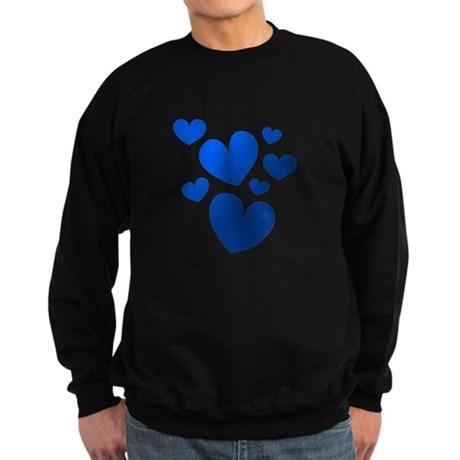 Blue Valentine Hearts Sweatshirt (dark)