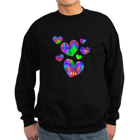 Kaleidoscope Hearts Sweatshirt (dark)