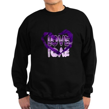 Abstract Love Heart Sweatshirt (dark)