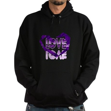 Abstract Love Heart Hoodie (dark)