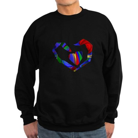 Abstract Heart Sweatshirt (dark)