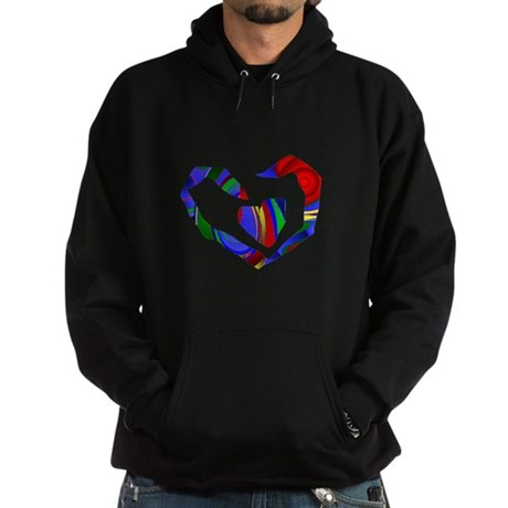Abstract Heart Hoodie (dark)
