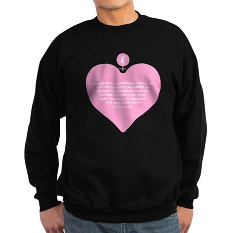Pink Heart Sweatshirt (dark)