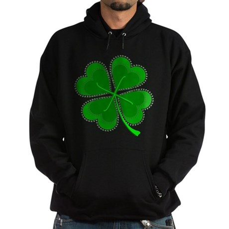 Lucky Four Leaf Clover Hoodie (dark)