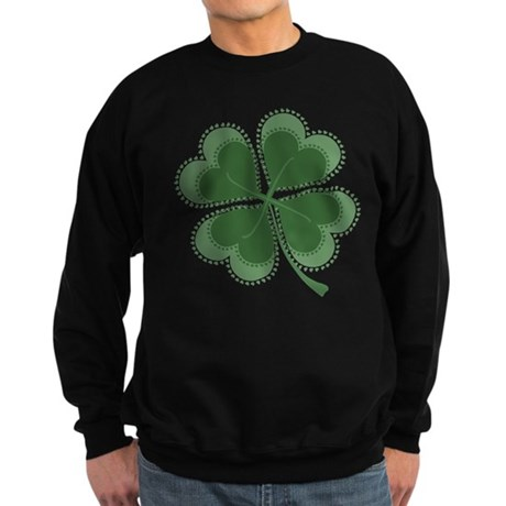 Lucky Four Leaf Clover Sweatshirt (dark)