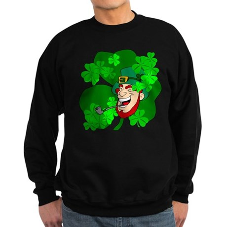 Leprechaun Shamrocks Sweatshirt (dark)