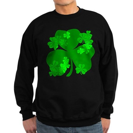 Lucky Irish Shamrocks Sweatshirt (dark)