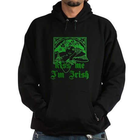 Kiss Me Irish Girl Hoodie (dark)