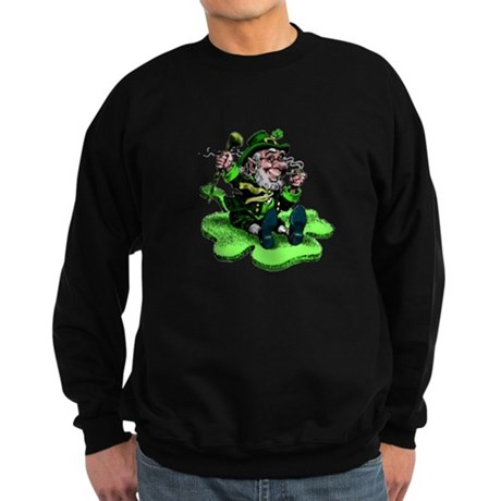Leprechaun on Shamrock Sweatshirt (dark)