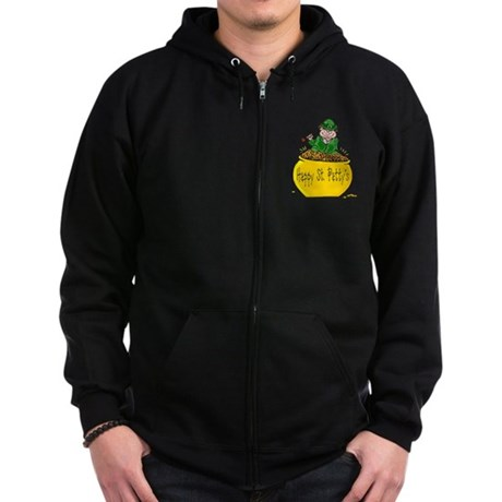 Pot of Gold Zip Hoodie (dark)