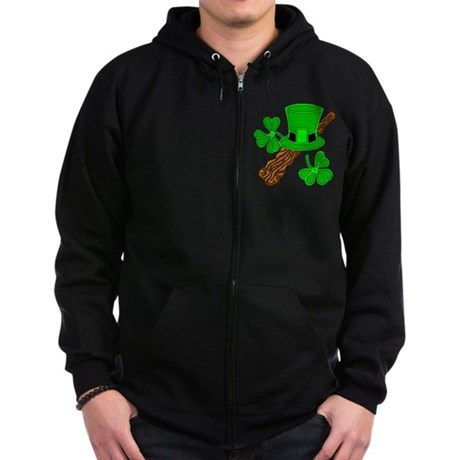 SMALLER IMAGE ON SHIRTS Zip Hoodie (dark)