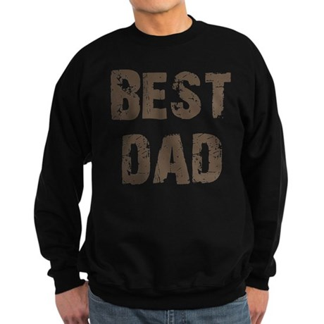 Best Dad Father's Day Brown Sweatshirt (dark)