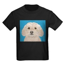 Cockapoo Portrait Blue T