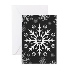 Skullflake (dark) Greeting Card