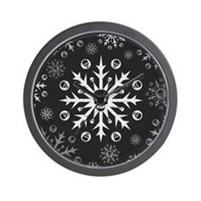 Skullflake (dark) Wall Clock