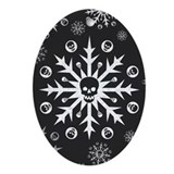 Skullflake (dark) Oval Ornament