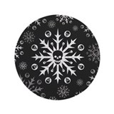 "Skullflake (dark) 3.5"" Button (100 pack)"