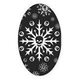 Skullflake (dark) Oval Sticker (50 pk)