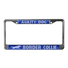 Agility Border Collie License Plate Frame