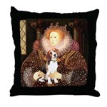 Queen / Beagle (#1) Throw Pillow