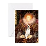 Queen / Beagle (#1) Greeting Cards (Pk of 20)