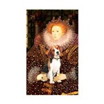 Queen / Beagle (#1) Sticker (Rectangle 50 pk)