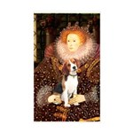 Queen / Beagle (#1) Sticker (Rectangle)