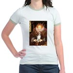 Queen / Beagle (#1) Jr. Ringer T-Shirt