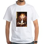 Queen / Beagle (#1) White T-Shirt