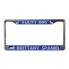 Agility Brittany Spaniel License Plate Frame
