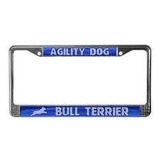 Agility Bull Terrier License Plate Frame