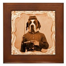 St. Bernard LEFTY Framed Tile