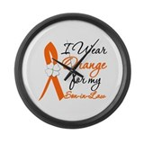 I Wear Orange Son-In-Law Large Wall Clock