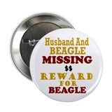 "Husband & Beagle Missing 2.25"" Button (10 pack)"