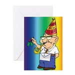Old Manny the Mason Greeting Card