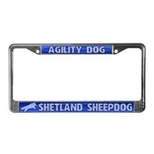 Agility Shetland Sheepdog License Plate Frame