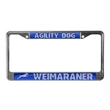Agility Weimaraner License Plate Frame