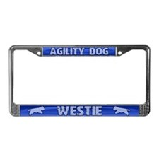 Agility Westie License Plate Frame