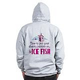 Ice fishing Zip Hoodie