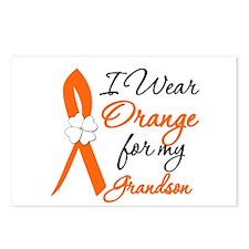 I Wear Orange For My Grandson Postcards (Package o