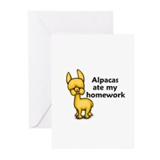 Alpacas ate my Homework Greeting Cards (Pk of 20)