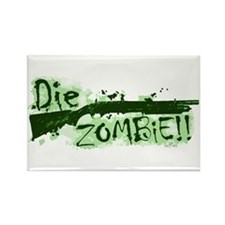 Die Zombie Rectangle Magnet