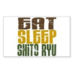 Eat Sleep Shito Ryu Rectangle Sticker