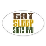 Eat Sleep Shito Ryu Oval Sticker