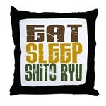 Eat Sleep Shito Ryu Throw Pillow