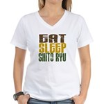 Eat Sleep Shito Ryu Women's V-Neck T-Shirt