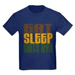 Eat Sleep Shito Ryu Kids Dark T-Shirt