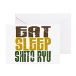 Eat Sleep Shito Ryu Greeting Cards (Pk of 10)