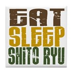 Eat Sleep Shito Ryu Tile Coaster