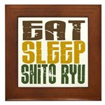 Eat Sleep Shito Ryu Framed Tile
